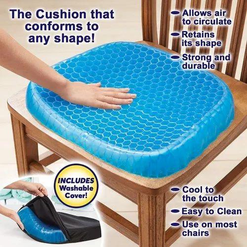 Blue Silicon Egg Sitter Cushion, Box, Size: 35 x 37 x 5cm