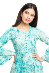 Yash Gallery Women's and Girls Cotton Tie Die Printed Top