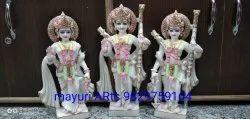 Multicolor Ram Lakshman Sita Marble Statue