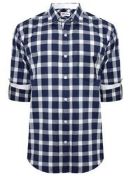 Blue Cotton Causal Shirt