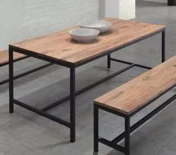 Wooden with Mild Steel Table