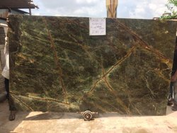 khetan Polished Finish Rain Forest Green Marble Stone, Thickness: 20-25 mm, Actual