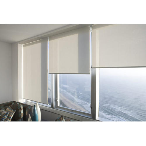 White Pvc Double Window Roller Blinds Rs 100 Square Feet Colour Magic Id 20471620130