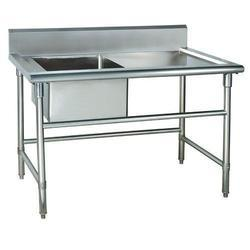 Base Barrier Stainless Steel Work Table Sink