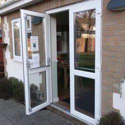 White Polished UPVC French Doors