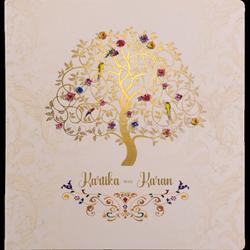 Wedding Invitation With Latest Tree Design, Size: 8.25