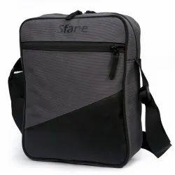 Sfane Black And Gray Polyester Sling Bag