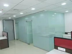 Glass Partition with Film