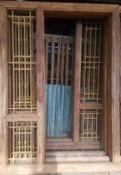 v.v brand Rectangular Teak Wood Exterior Main Frame, Dimension/Size: 7*5