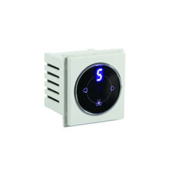 White TOUCH I R CONTROLLED FAN REGULATOR, 230, Number Of Modules: 2