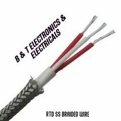RTD 3 Core SS Braided Wire