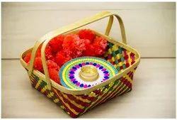 Bamboo Fruit Or Puja Basket