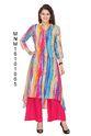 Multi Coloured Rayon Printed Kurti