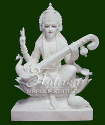 Viyatnam White Marble Saraswati Statue