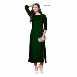 Amar Creation A-Line Green Ladies Kurti