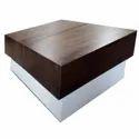 Brown Rectangular Designer Wooden Center Table
