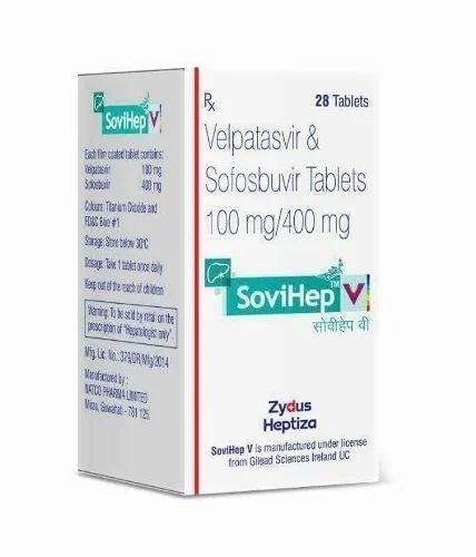 Sovihep V (Sofosbuvir 400mg Velpatasvir 100mg tablets), Hepcina, सोफोसबुविर  - Tissue Overseas, Surat | ID: 15523378673