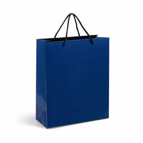 blue paper bag at rs 12 piece kagaz ke carry bags divam nashik