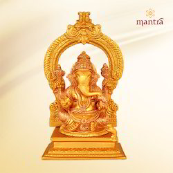 Ganesh with Arch Goldplated