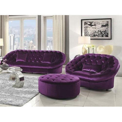 Bon Multicolor, Velvet Sofa Set
