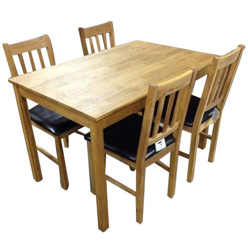 5 X 3 Feet Oak Dining Table Set