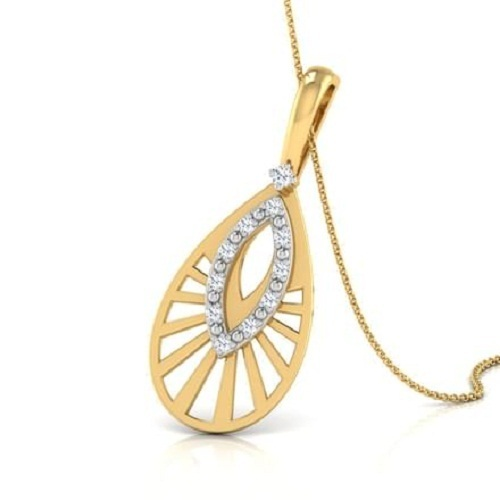 Trendy gold pendant necklace at rs 13000 piece sone ke laket trendy gold pendant necklace aloadofball Choice Image