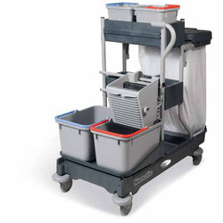 Multifunctional Mop Wringer Trolley