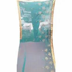 Ladies Party Wear Chiffon Saree, 5.5 m Separate Blouse Piece