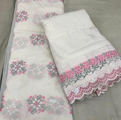 Multi Head 42 Designer Kurti Embroidery Fabric, For Garments, GSM: 50-100