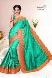 Tamanna Festive Wear Sana Silk Saree, With blouse piece, 6.3m