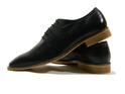 Xcordon Black Leather Shoes, Size: 6-10