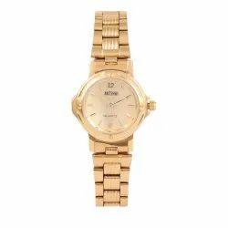 Ladies Artshai Golden Dial Analog Wrist Watch, Warranty: 1 Year