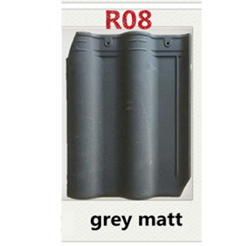 R08 Grey Matt Bent A Clay Roof Tile