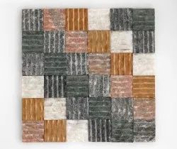 Multicolor Rippled Tiles, For Walls