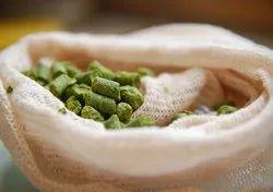 Plain White Hops And Grains Brew Cotton Bag, Storage Capacity: 0.215 Grams