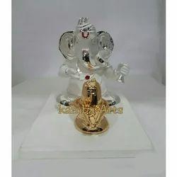 Silver Plated Ganesh Figurine
