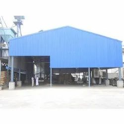 Steel Blue Prefab Industrial Shed
