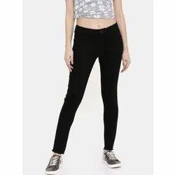 Slim Black Ladies Stretchable Jeans, Waist Size: 28 to 36