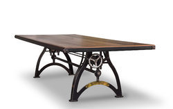 Industrialux Crank Dinning Table, Industrial Retro Table