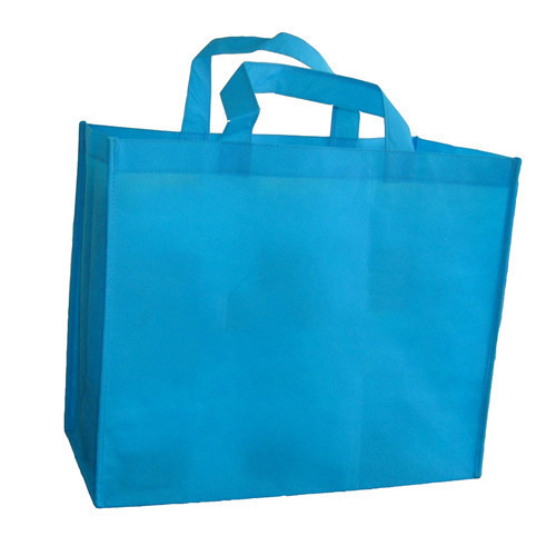 500d9e2bffe0 Blue Plain Cloth Carry Bag