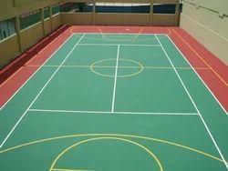 Indoor Matte Floor Vinyl Sports Flooring Service