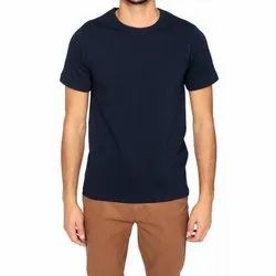 Cotton Men Round Neck T Shirt, Size: Medium