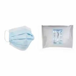 Disposible Free 3 Ply Mask With Nose Pin And Disposable Bag