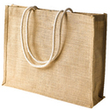 Unprinted Jute Bag With Rope Handle