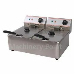 2 Tank 2 Basket Electric Fryer (8L-2)
