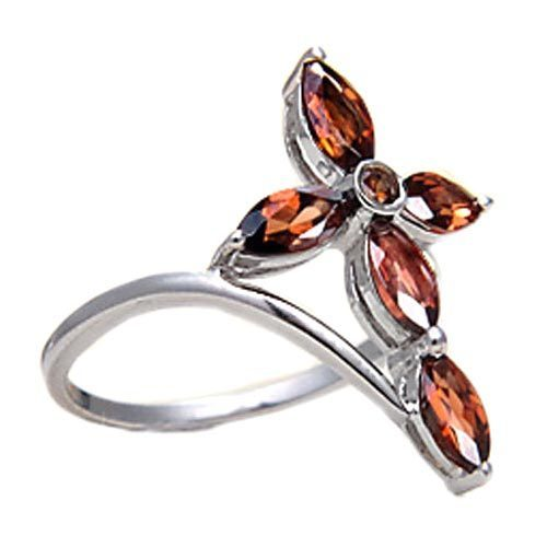 96a7599ca59fa 925 Sterling Silver Red Garnet Stone Ring
