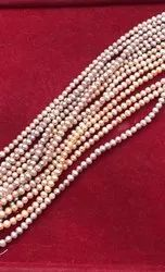 Round Pink Freshwater Pearl String