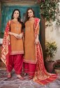Ladies Patiala Chanderi Suits Banarasi Dupatta