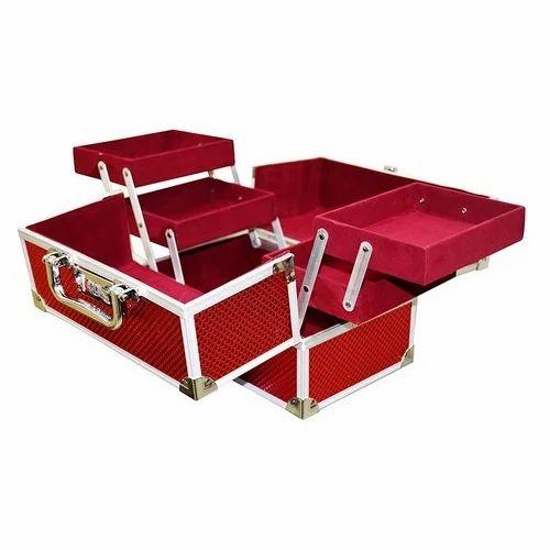 Red Bridal Ladies Makeup Box