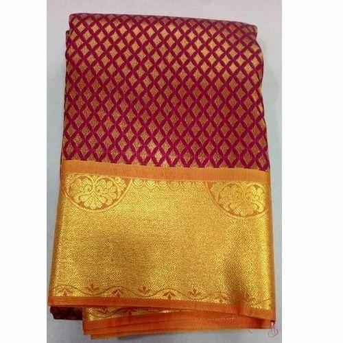 0ed54e315a Pure Silk Grand Red Kanchipuram Silk Wedding Saree, 6.3 M (with Blouse  Piece)